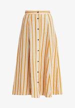 AMIRA SKIRT - Falda larga - golden brown/white