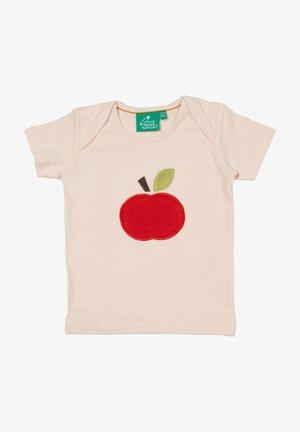 AN APPLE A DAY APPLIQUE - Print T-shirt - off-white
