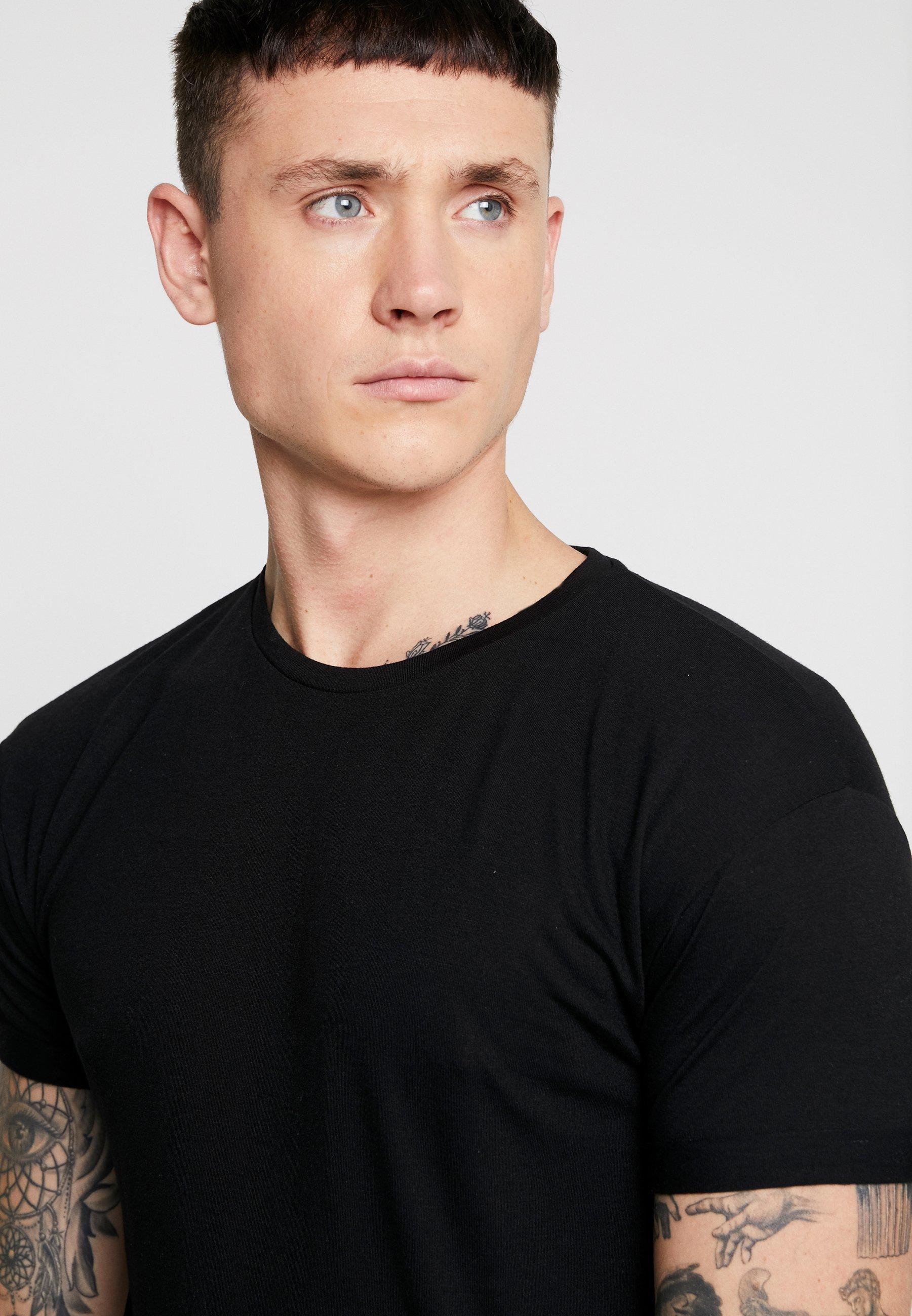 Topman SCOTTY 2 PACK - Basic T-shirt - black/white gOC1i