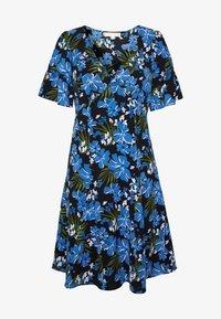 MICHAEL Michael Kors - BOLD FLARE DRESS - Day dress - black/ vintage blue - 5