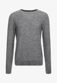 JJESTRUCTURE CREW NECK  - Neule - jet stream/twisted with black