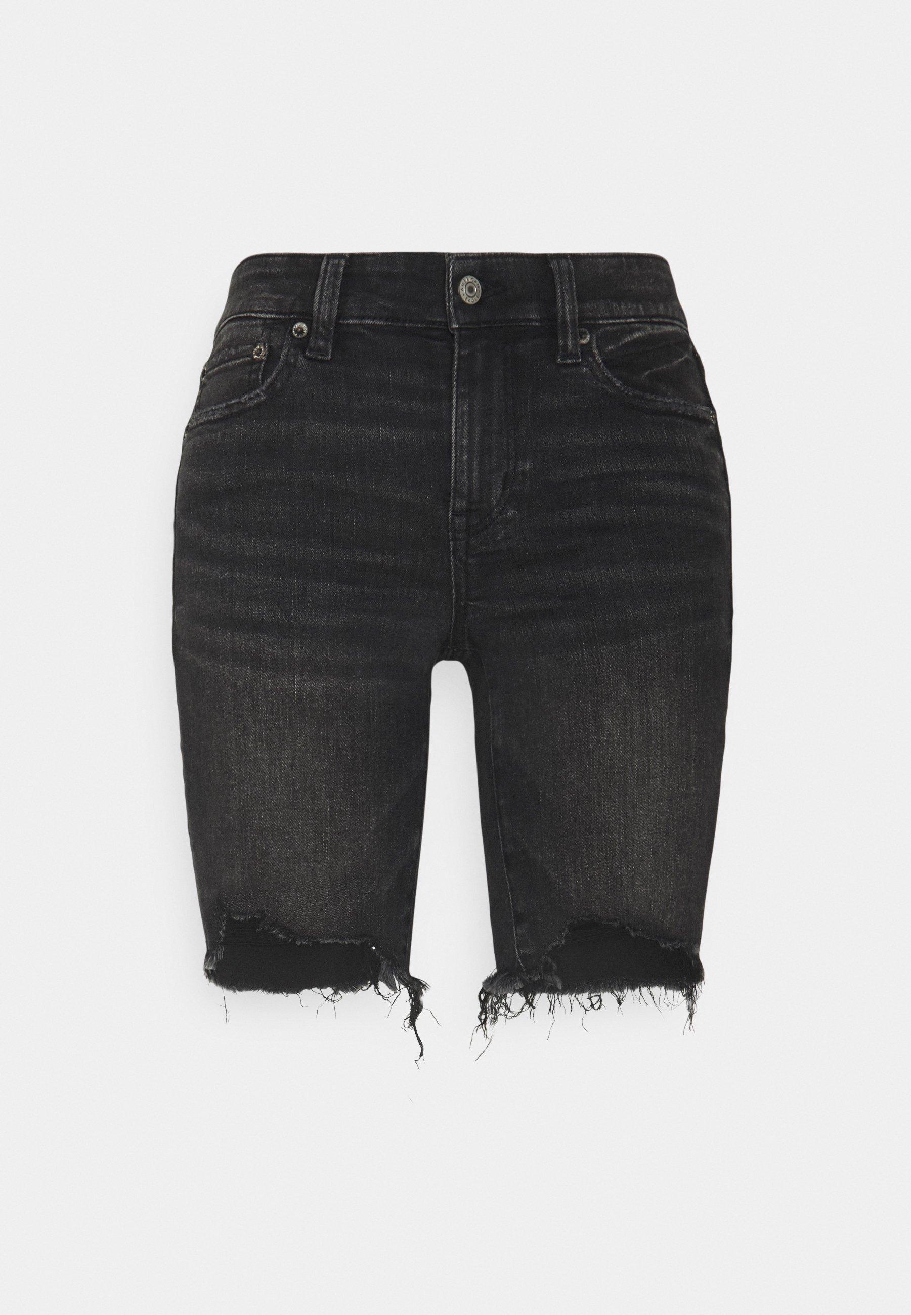 Women BIKER MID - Denim shorts