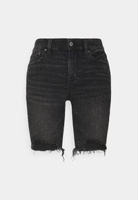 American Eagle - BIKER MID - Shorts di jeans - fade to black - 0