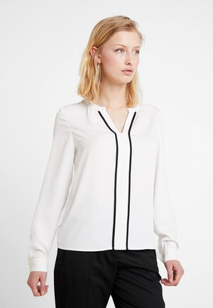 PIPING DETAIL BLOUSE  - Blouse - white