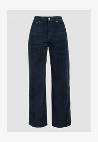 Levi's® - RIBCAGE CORD WIDE LEG - Flared Jeans - navy blazer plush cord - 6