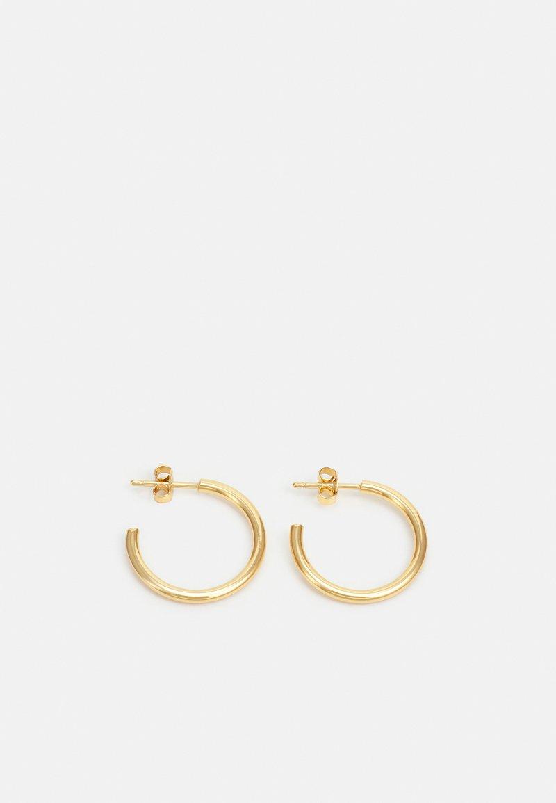 Orelia - CHUNKY MID SIZE HOOPS - Earrings - pale gold-coloured