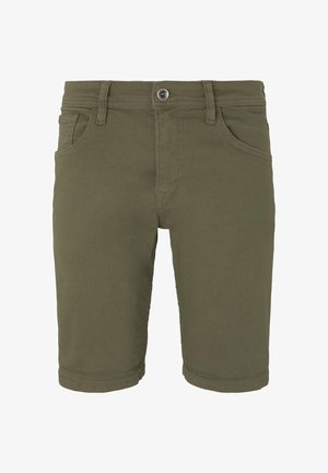 Shorts di jeans - dry greyish olive