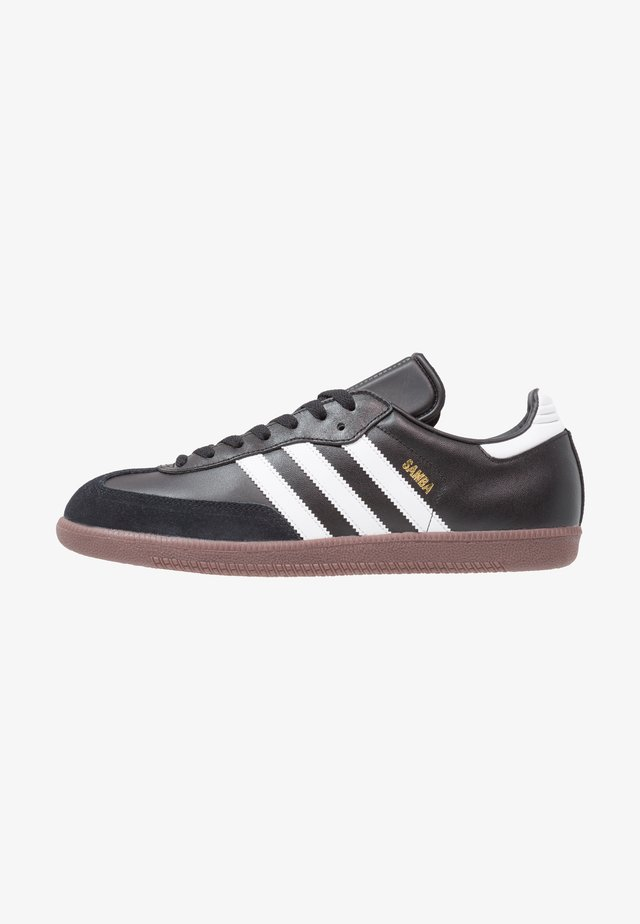 SAMBA LEATHER FOOTBALL SHOES INDOOR - Sneaker low - black/run white
