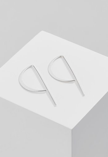 CLASSIC - Earrings - silver-coloured