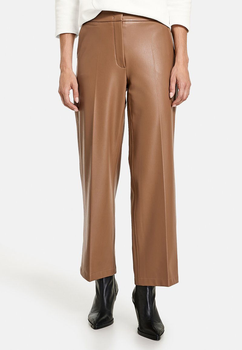 Gerry Weber - Leather trousers - toffee