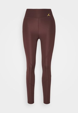 ESSENTIAL - Leggings - Trousers - mahogany/gold