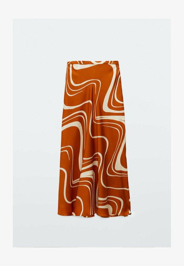 MIT PRINT  - A-lijn rok - orange