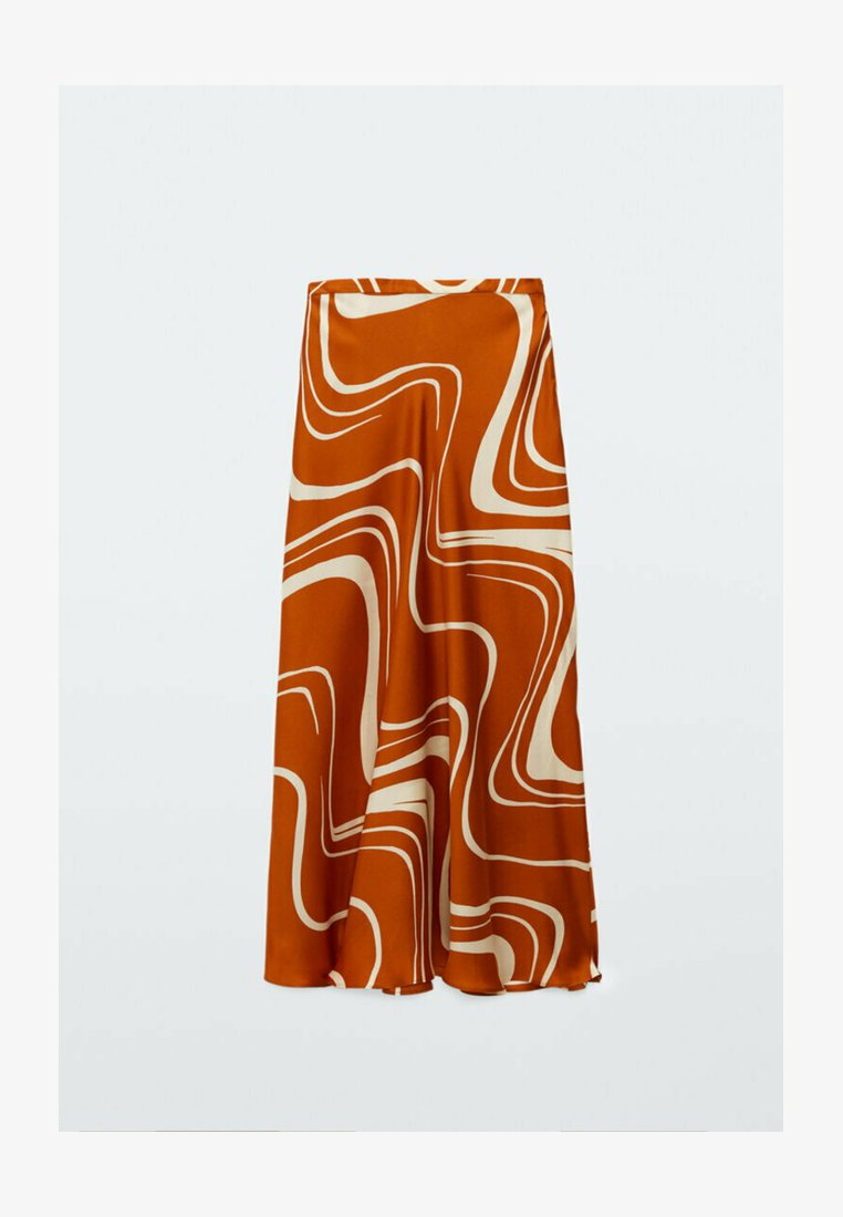 Massimo Dutti - MIT PRINT  - A-line skirt - orange