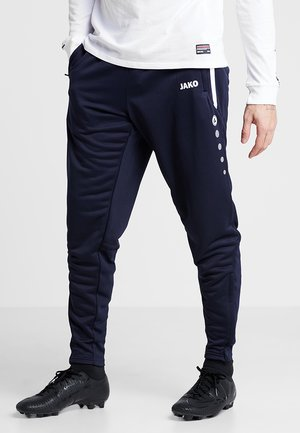 ACTIVE - Tracksuit bottoms - navy/white