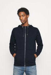 s.Oliver - LANGARM - Zip-up hoodie - dark blue - 0