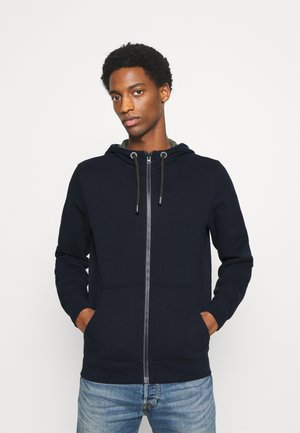 LANGARM - veste en sweat zippée - dark blue