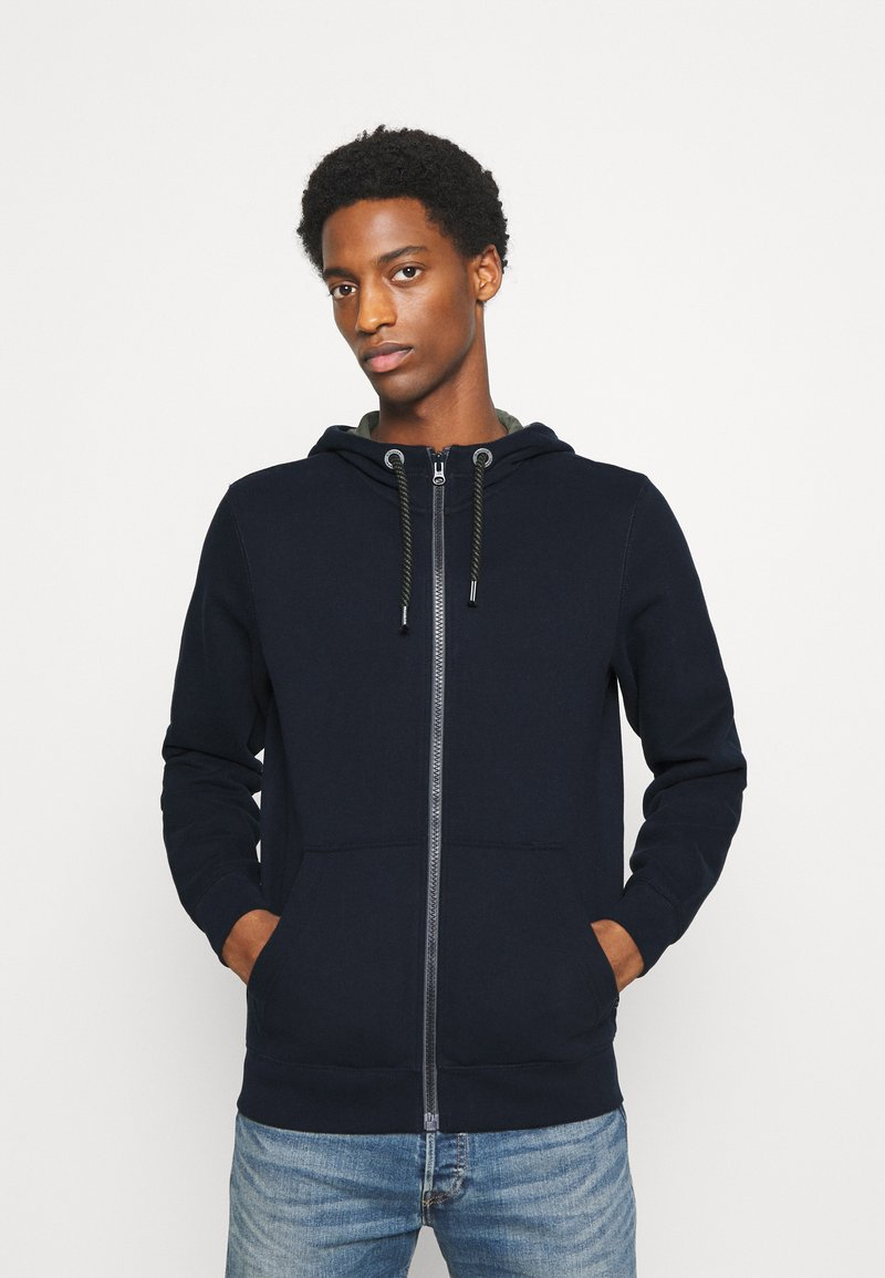s.Oliver - LANGARM - Zip-up hoodie - dark blue