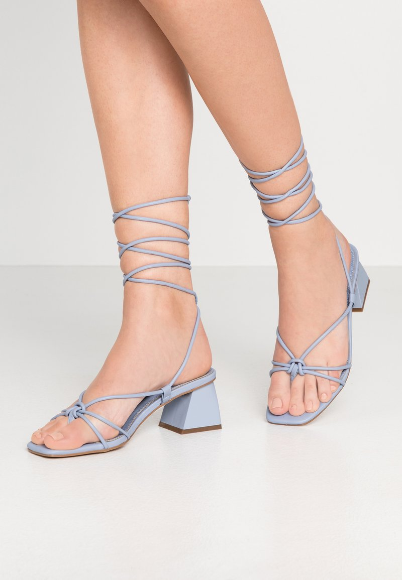 Topshop - NIKITIA STRAP  - T-bar sandals - blue