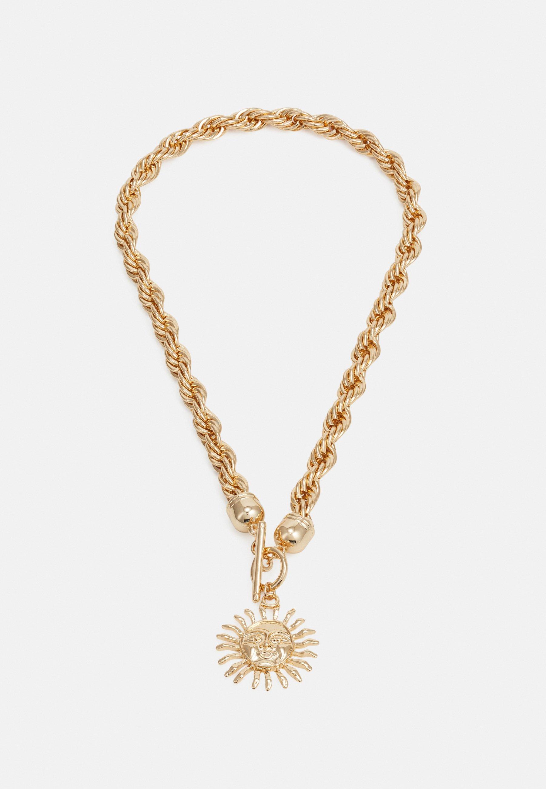 Women SUNBURST TWIST CHAIN NECKLACE - Necklace