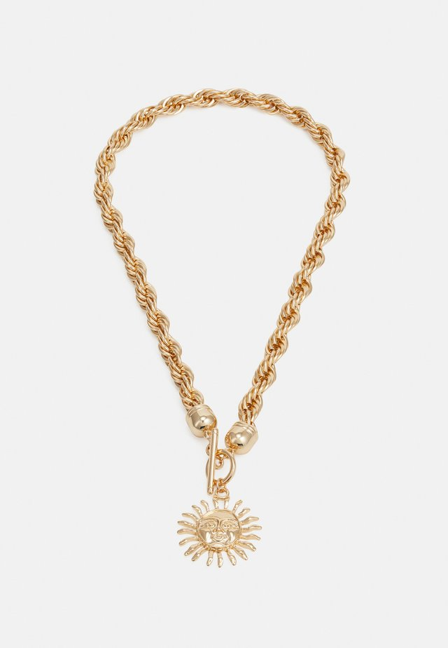 SUNBURST TWIST CHAIN NECKLACE - Naszyjnik - gold-coloured
