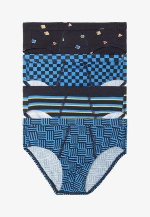 4 PACK - Briefs - dark blue /light blue