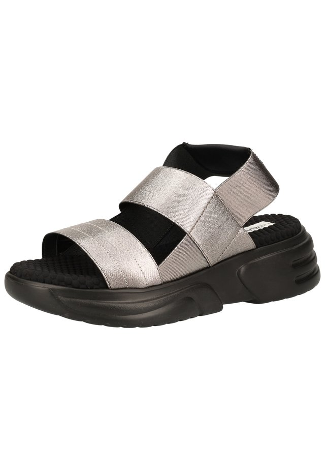 Sandalen met plateauzool - piombo ex151