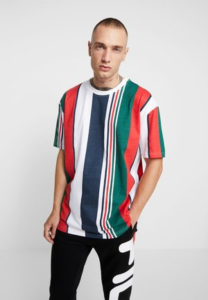 HEAVY OVERSIZED BIG STRIPE TEE - T-shirt imprimé - white/navy