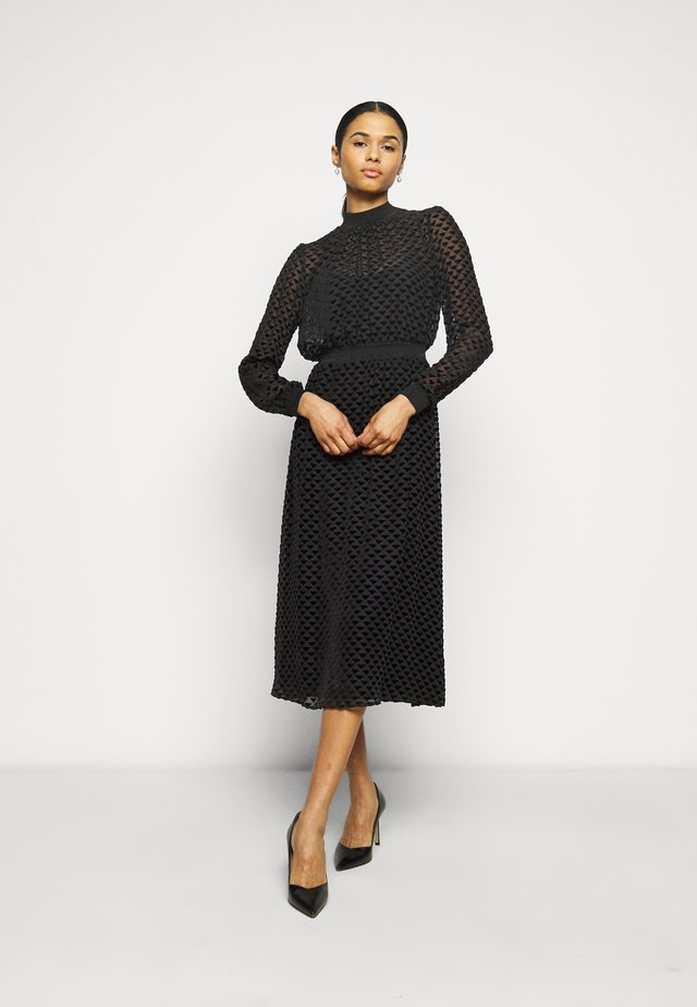 DEVORE DRESS - Cocktailjurk - black