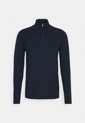 EDGQAR HALF ZIP - Jumper - dark navy