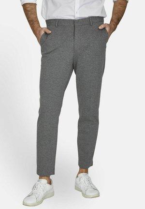STOFFHOSE JERSEY KNÖCHELLANG - Trousers - grau