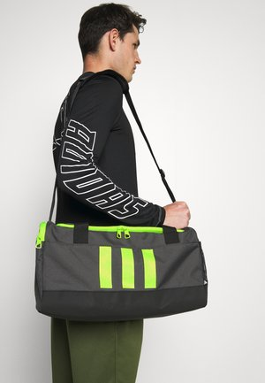 DUFFLE M UNISEX - Treningsbag - dough solid grey/black/solar yellow