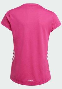 adidas Performance - AEROREADY 3-STREIFEN - Camiseta estampada - pink - 1