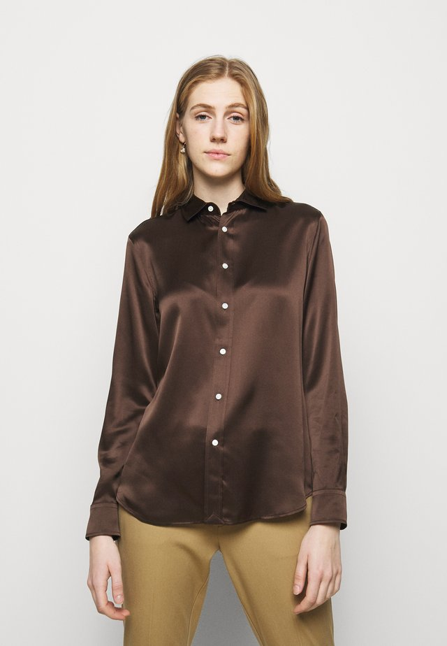 Button-down blouse - mohican brown