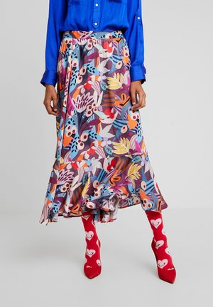 FREJA - Maxi skirt - roan rouge