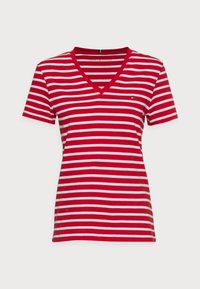 Tommy Hilfiger - NEW V-NECK TEE - Print T-shirt - red - 3