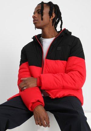 2 -TONE PUFFER  - Winter jacket - firered/black