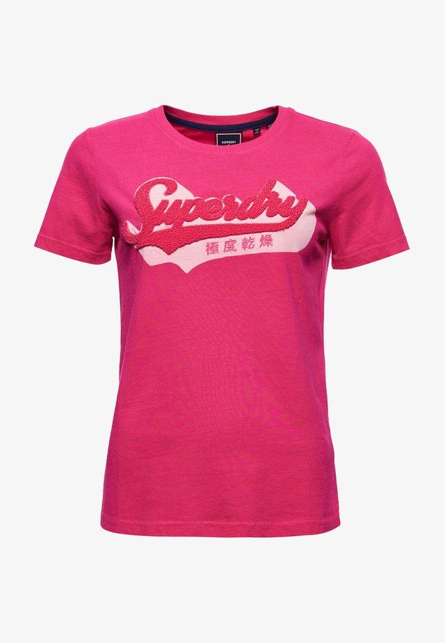 SHADOW - Print T-shirt - raspberry sorbet