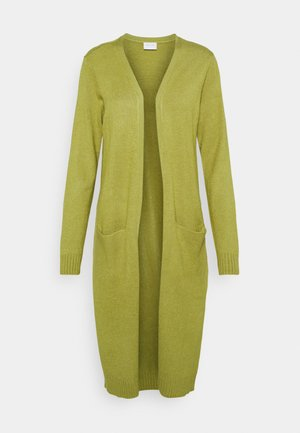 VIRIL LONG CARDIGAN - Kardigan - green olive melange
