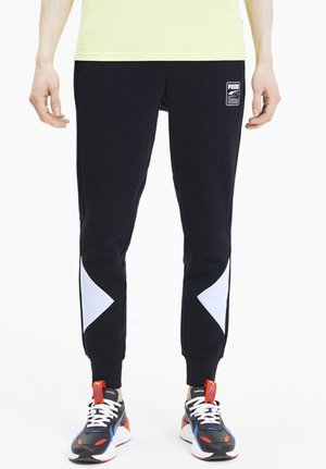 REBEL - Tracksuit bottoms - black