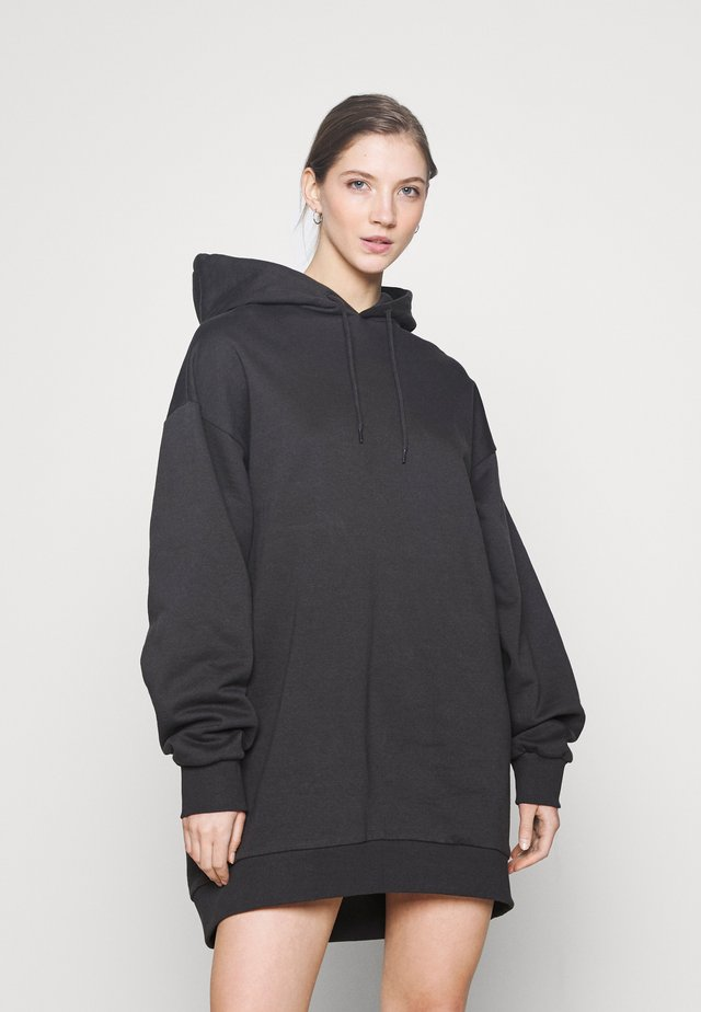 LIZETTE HOODIE DRESS - Korte jurk - black dark