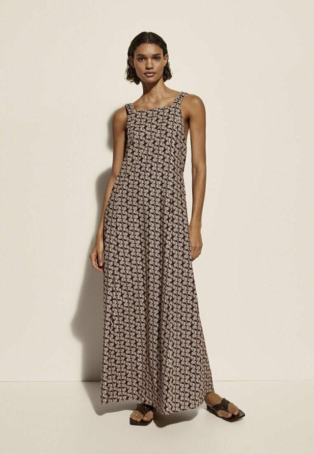 Długa sukienka - brown