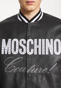 MOSCHINO - Leather jacket - black - 9