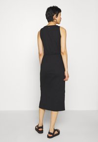 Calvin Klein - TIE WAIST MIDI DRESS - Shift dress - black