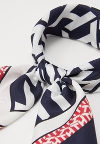 Tommy Hilfiger - MONOGRAM FRAME SQUARE - Foulard - dark blue/white