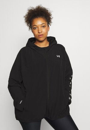 HOODED JACKET - Veste de running - black