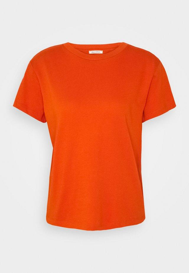 SHORT SLEEVE ROUND NECK - Basic T-shirt - pumpkin orange