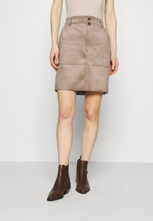 BONDED - A-line skirt - taupe
