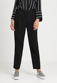 Monki - TARJA TROUSERS - Tygbyxor - black - 0