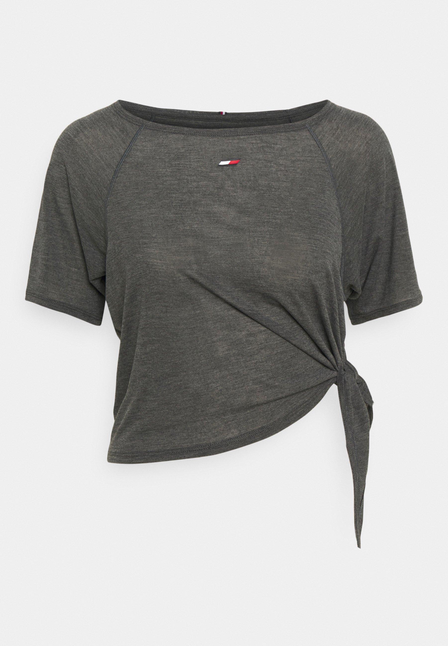 Women RELAXED TIE HEM BOAT TEE - Print T-shirt