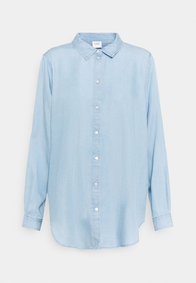 JDYOLIVIA LIFE - Button-down blouse - light blue denim